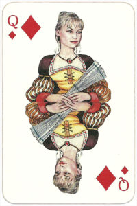 PromElectronica contemporary eclectic design Russian cards – Queen of diamonds