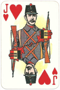 The Allied Armies of the First World War 1917 made in Russia Belgian private soldier – Jack of hearts