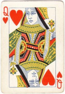 Queen of hearts playing card poker