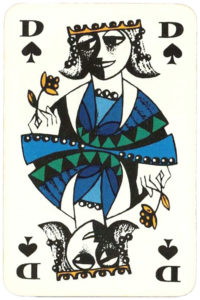 Queen of spades card Essay Coeur by graphic artist Hannelore Heise