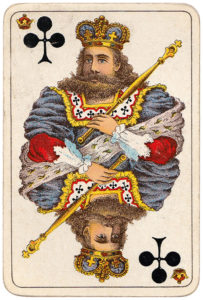 Vintage playing cards published by Öberg Swedish pattern Prima Spelkort – King of clubs
