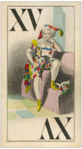 Ballerina drawing images from classic ballet Knepper Tarock cards