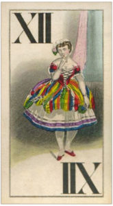 Ballerina girl picture waiting for the show Knepper Tarock cards