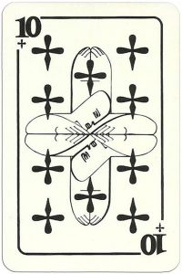 10 of clubs Modernist artistic style cards from Russia