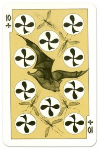 #PlayingCardsTop1000 – 10 of clubs dark power Russian fairy tale cards