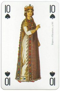 10 of spades Modiano deck Middle Ages