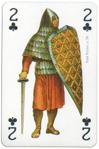 2 of clubs Modiano deck Middle Ages