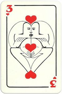 3 of hearts Modernist artistic style cards from Russia
