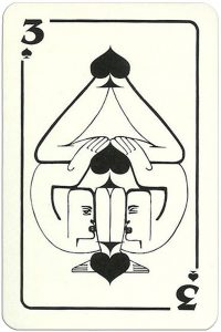 3 of spades Modernist artistic style cards from Russia