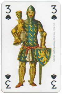 3 of spades Modiano deck Middle Ages