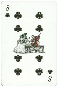 #PlayingCardsTop1000 – 300 years Poltava battle 8 of clubs
