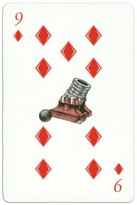 300 years Poltava battle 9 of diamonds