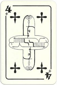 4 of clubs Modernist artistic style cards from Russia