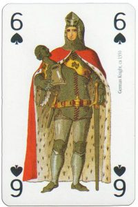 #PlayingCardsTop1000 – 6 of spades Modiano deck Middle Ages