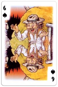 6 of spades Trolls cartoons playing cards by Rolf Lidberg