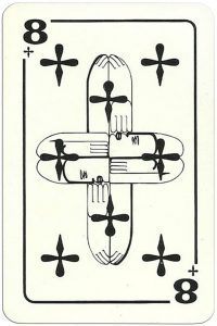 8 of clubs Modernist artistic style cards from Russia