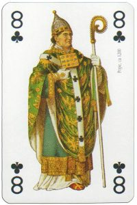 8 of clubs Modiano deck Middle Ages