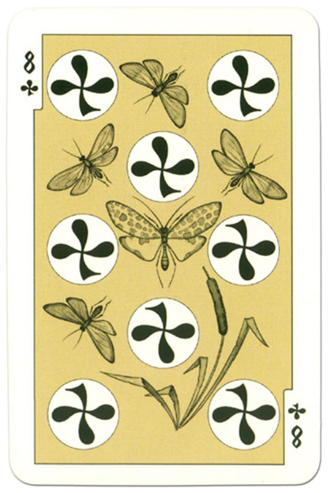 #PlayingCardsTop1000 – 8 of clubs dark power Russian fairy tale cards