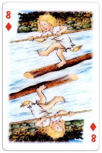 8 of diamonds Trolls cartoons playing cards by Rolf Lidberg