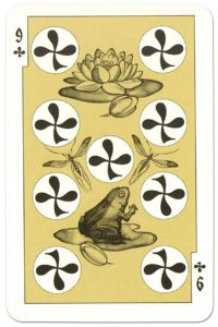 #PlayingCardsTop1000 – 9 of clubs dark power Russian fairy tale cards