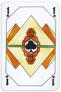 #PlayingCardsTop1000 – Ace of clubs Latvian playing cards designed by Janis Metra