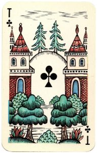 Ace of clubs Lubok Art cards