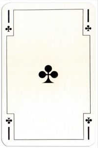 Ace of clubs Renovation playing cards designed by Jean Hoffmann