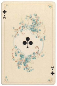 #PlayingCardsTop1000 – Ace of clubs Rococo patience artist Josef Maria Melchior Annen