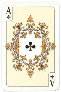 Ace of clubs Russian traditional style playing cards