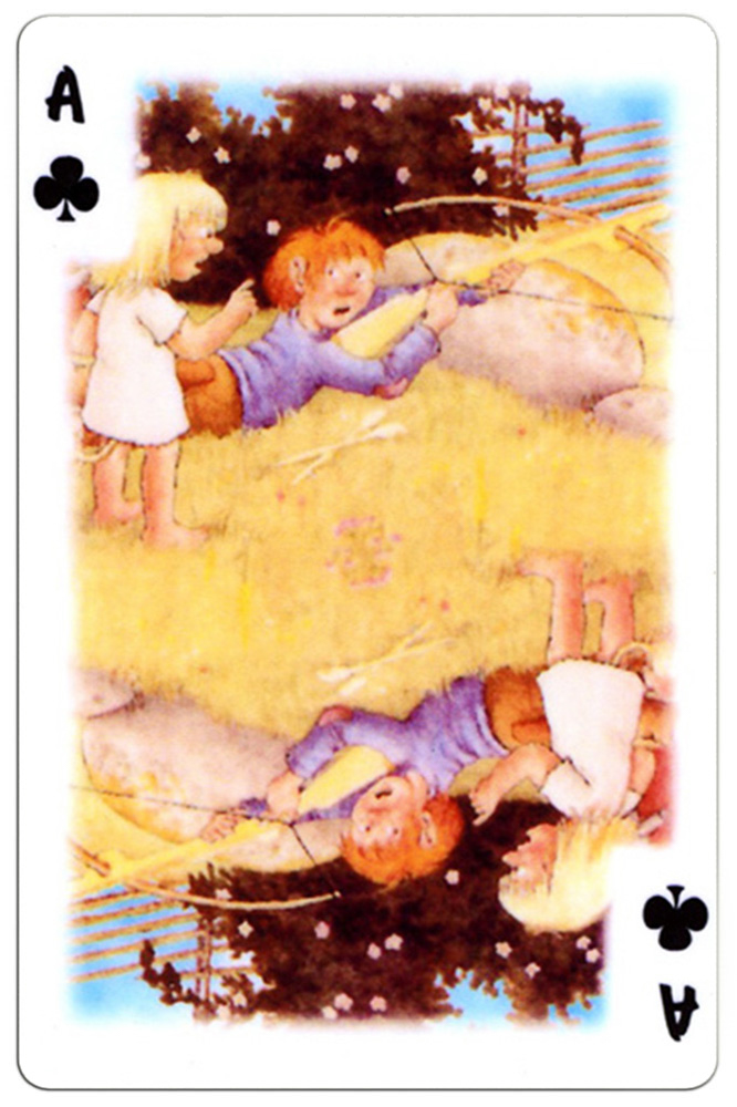 Ace of clubs Trolls cartoons playing cards by Rolf Lidberg