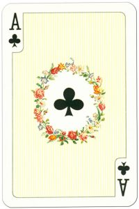 #PlayingCardsTop1000 – Ace of clubs Tudor Rose