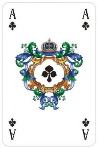 #PlayingCardsTop1000 – Ace of clubs Versailles fine cards from Sankt Petersbourg