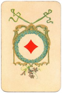Ace of diamonds Balkan whist cards published in Hungary