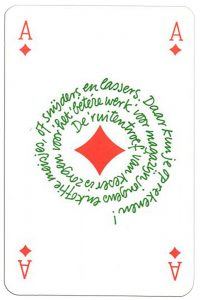 Ace of diamonds Keser playing cards for every profession