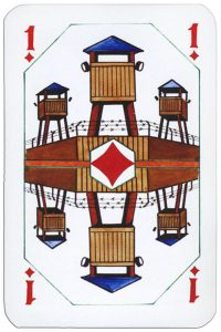 Ace of diamonds Latvian playing cards designed by Janis Metra