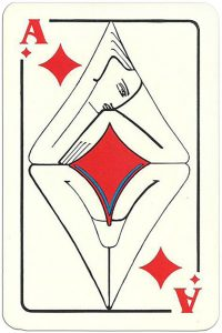 Ace of diamonds Modernist artistic style cards from Russia