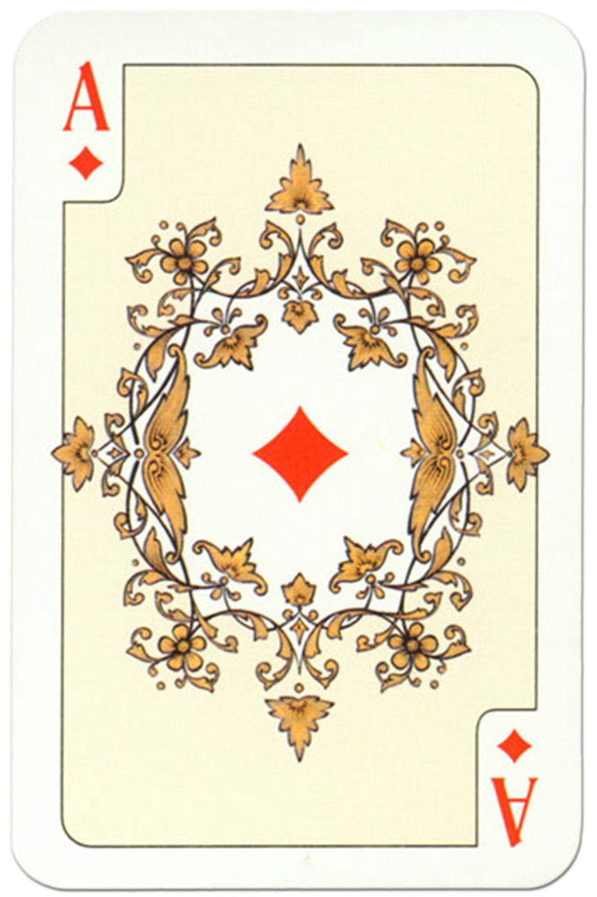 Ace of diamonds Russian traditional style playing cards