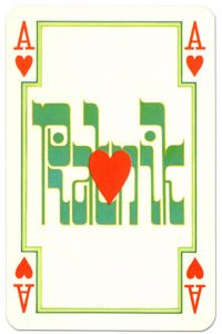 Ace of hearts Arab playing cards by Piatnik