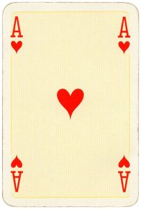 Ace of hearts Bridge Export classic playing cards by Handa