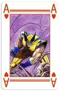 Ace of hearts Lo Scarabeo deck Marvel by artist Marco Nizzoli