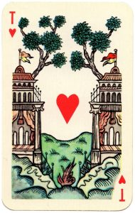 #PlayingCardsTop1000 – Ace of hearts Lubok Art cards