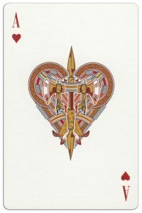 Ace of hearts Malam Deluxe USA playing cards
