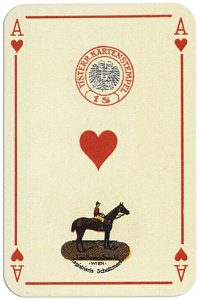 Ace of hearts Penizek Rainer precious furs playing cards