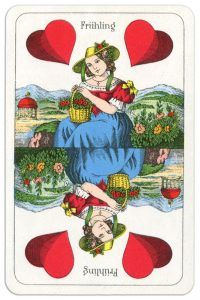 Ace of hearts Wilhelm Tell cards from Austria