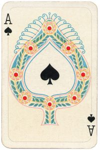 Ace of spades Allerfeinste Schubert Whist beautiful playing cards
