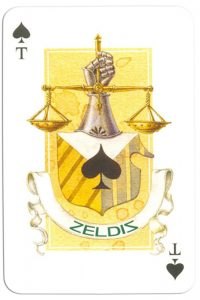 Ace of spades Contemprary art cards made for Zeldis