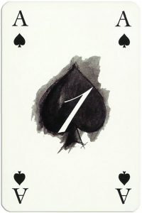 Ace of spades Gaultier Cartes de jeu