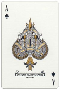 Ace of spades Malam Deluxe USA playing cards