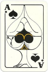 Ace of spades Modernist artistic style cards from Russia