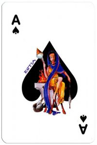 #PlayingCardsTop1000 – Ace of spades Olympus Gods Greek playing cards